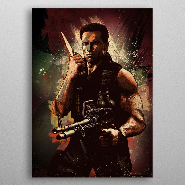 John Matrix metal poster