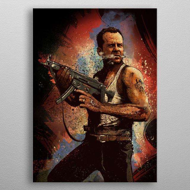 John McClane metal poster
