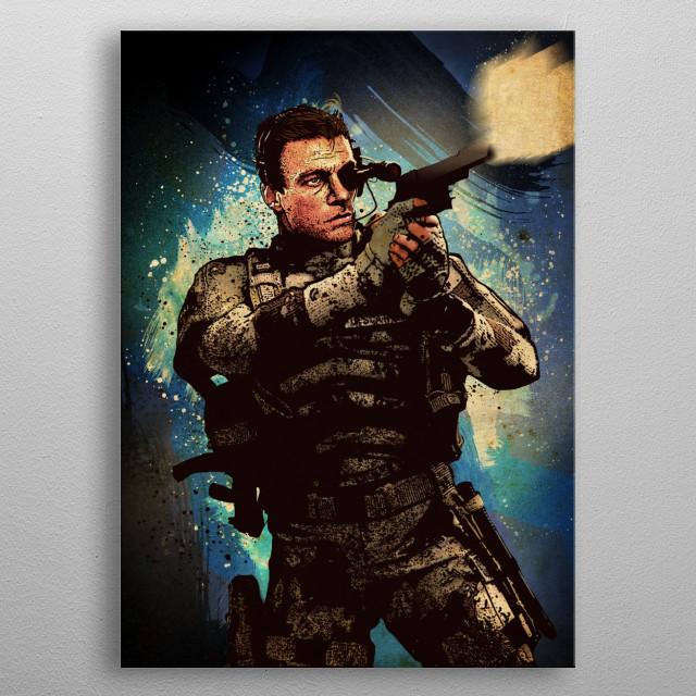Van Damme metal poster