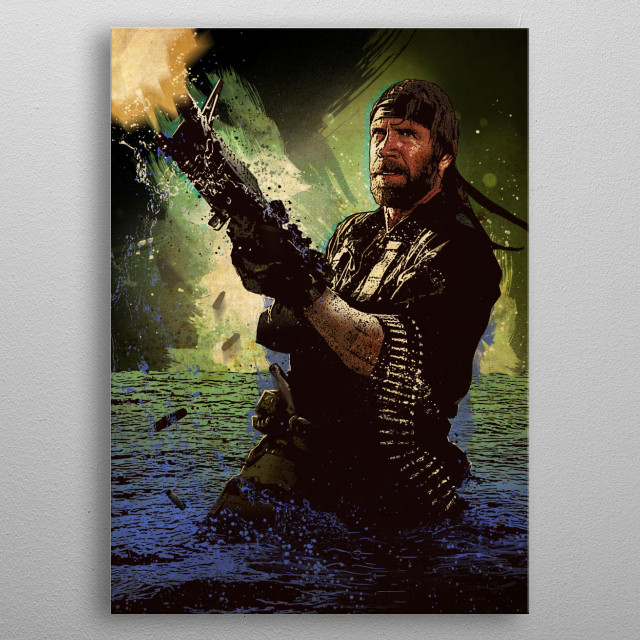 Chuck Norris metal poster