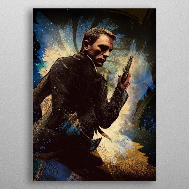 James Bond metal poster