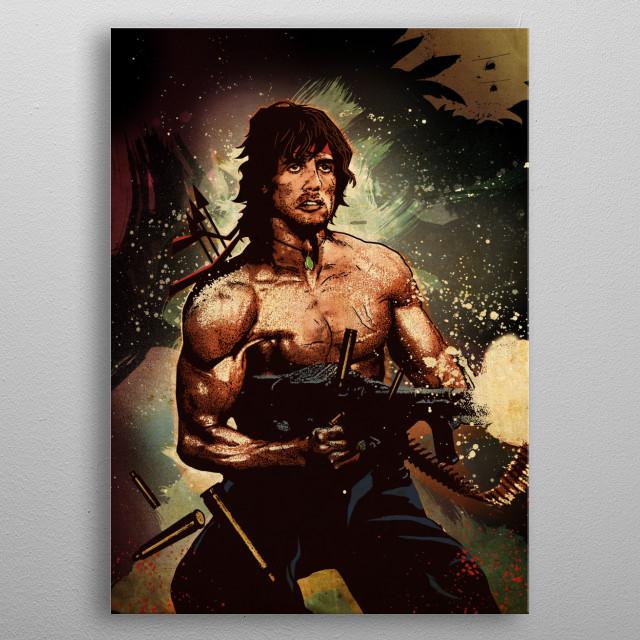 John Rambo metal poster