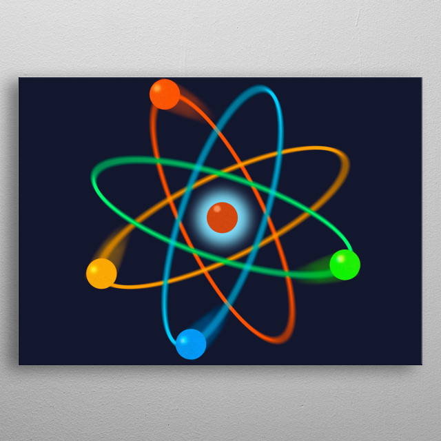 Cool, trendy and fun science inspired wall art designed as a gift for all scientists, science teachers, science students, in short, any science geek in your life (and that includes you)! metal poster
