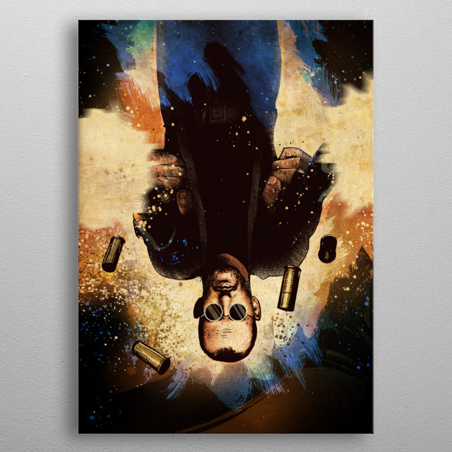 High-quality metal print from amazing Action Heroes collection will bring unique style to your space and will show off your personality. metal poster