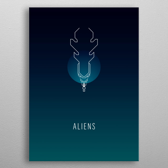 High-quality metal print from amazing Minimal Space collection will bring unique style to your space and will show off your personality. metal poster