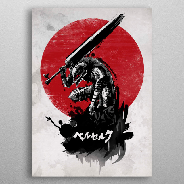 Red Sun Swordsman metal poster