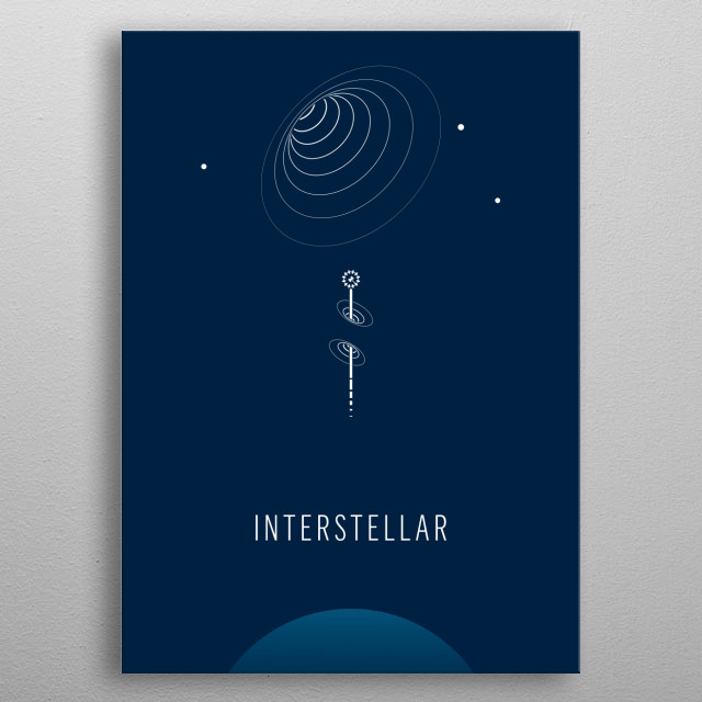Interstellar - minimalist movie poster metal poster