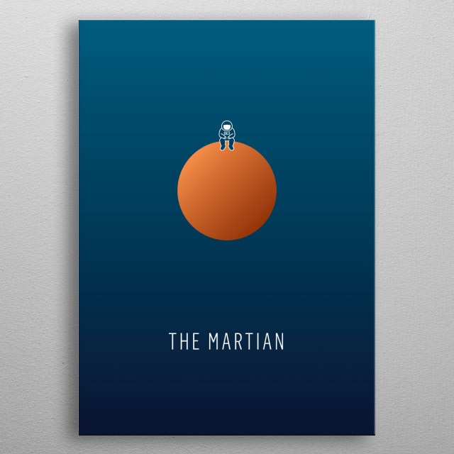 The Martian - minimalist movie poster metal poster