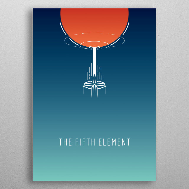The Fifth Element - minimalist movie poster metal poster