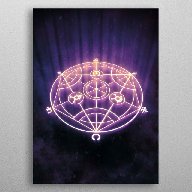 Fullmetal Alchemist • Human Transmutation Circle metal poster