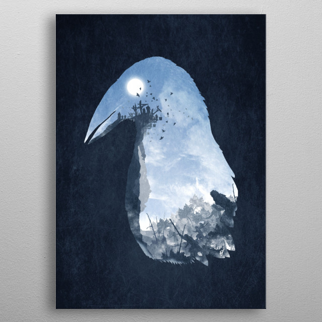 Rise of the Crow metal poster