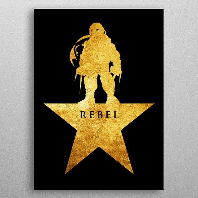 - Rebel - metal poster