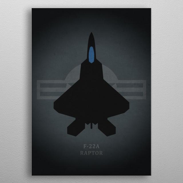 F-22A Raptor metal poster