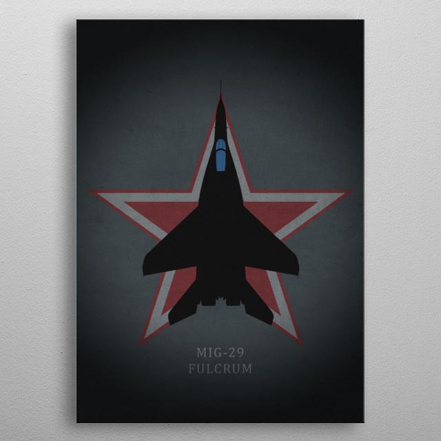 MIG-29 Fulcrum metal poster