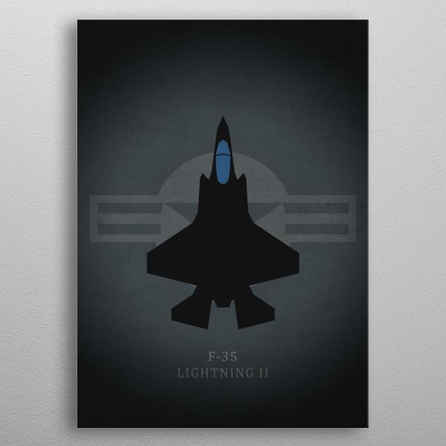 F-35 Lightning II metal poster