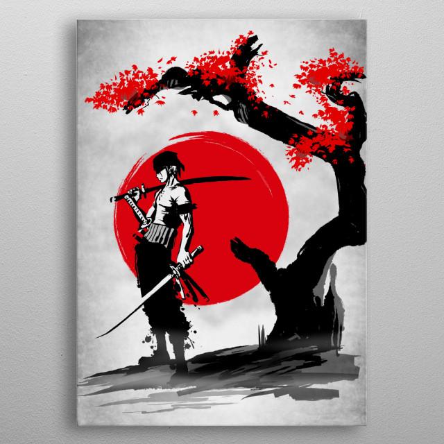 Swordsman Pirate metal poster