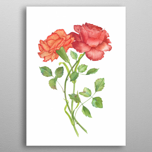 High-quality metal print from amazing Botanical collection will bring unique style to your space and will show off your personality. metal poster