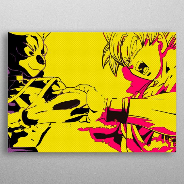 Goku Vs Bills metal poster