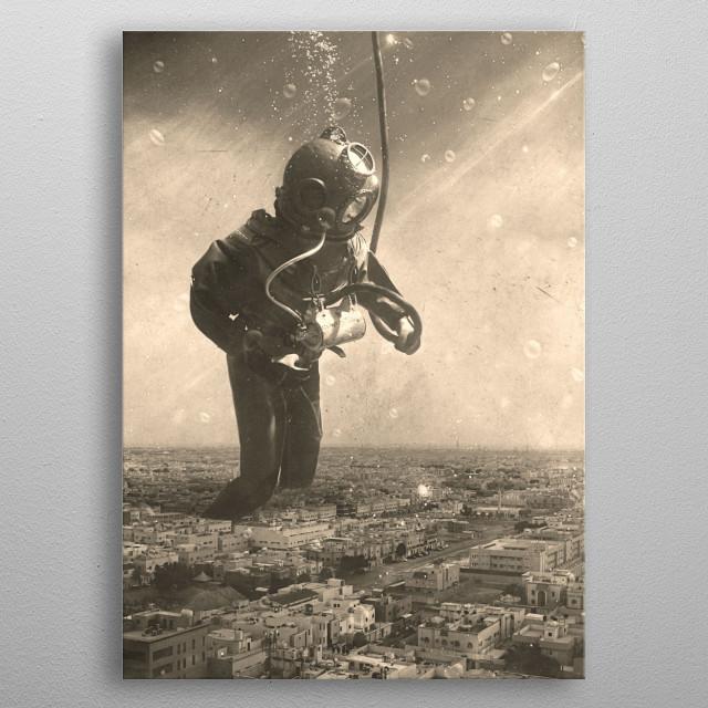 Underwater City  metal poster