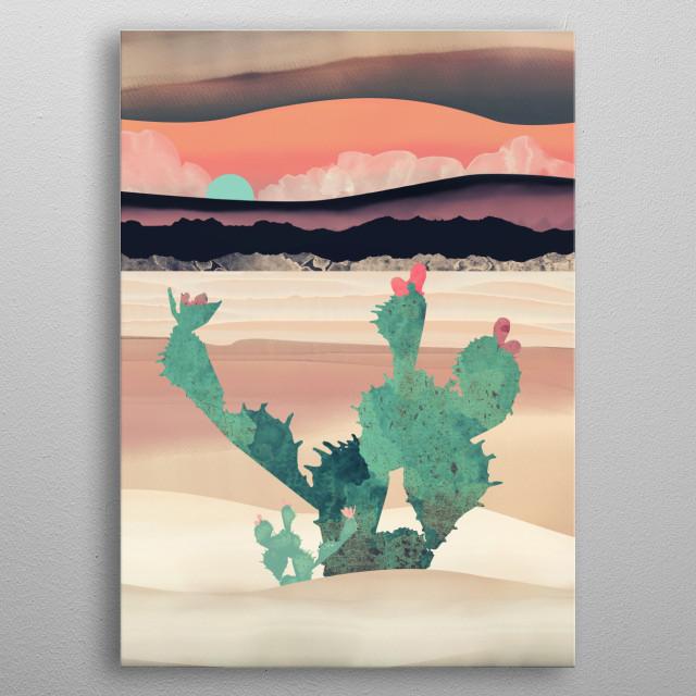 Desert Dawn metal poster