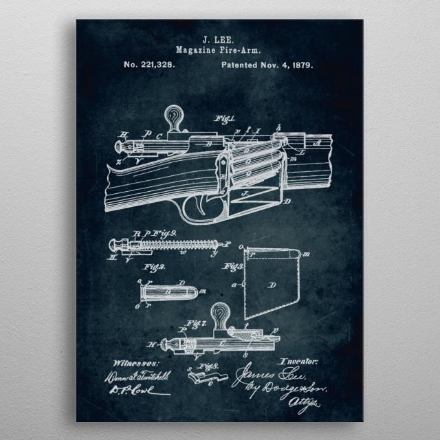 No140 - 1879 - Magazine fire-arm - Inventor J. Lee metal poster