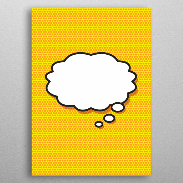 Comic book pop art inspired art that makes a great gift for you, your friends or your family. Cool, trendy and fun design that puts the wham,... metal poster