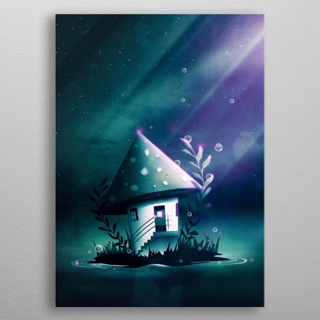 Magic Mush Room | Digital Art, 2017 metal poster