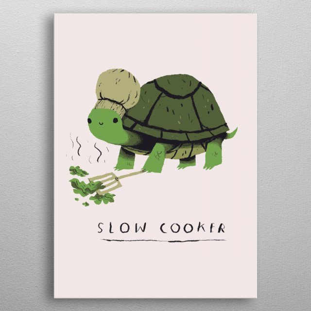 slow cooker! metal poster
