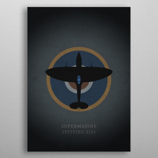 Supermarine Spitfire XIVc metal poster