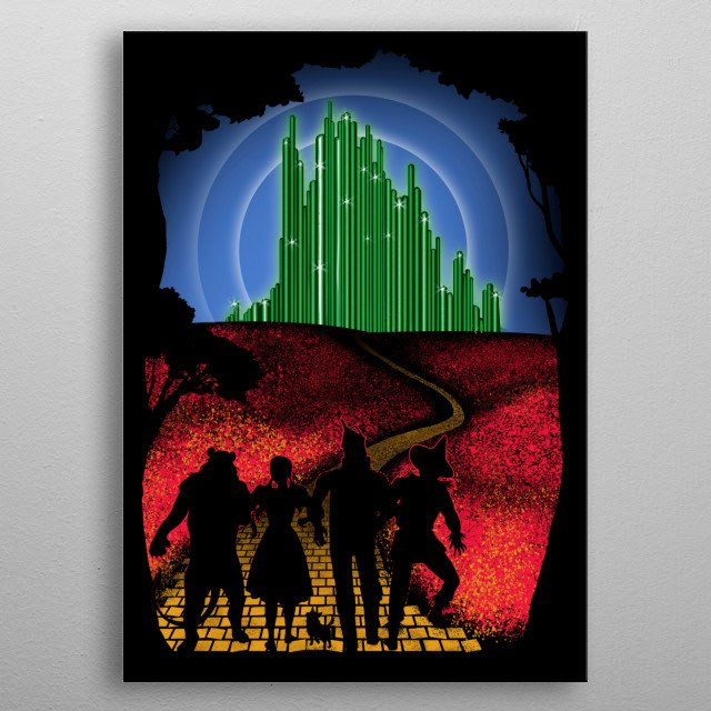 Fascinating metal poster designed by Ursula Lopez. Displate has a unique signature and hologram on the back to add authenticity to each design. metal poster