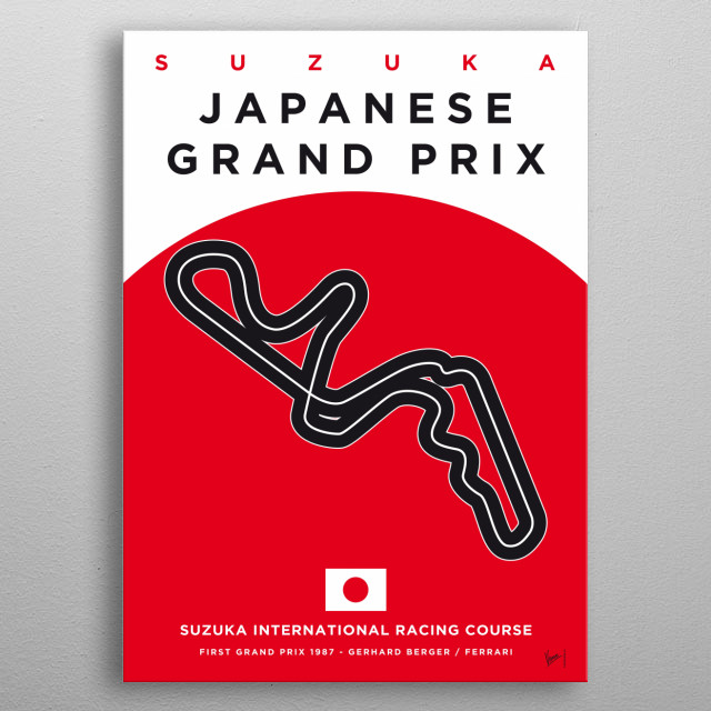 Awesome Minimalist Formula One Posters by chungkong.nl  This stunning collection of minimalist Formula 1 posters is the work of Chungkong, a ... metal poster