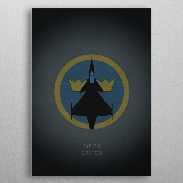 JAS 39 Gripen metal poster