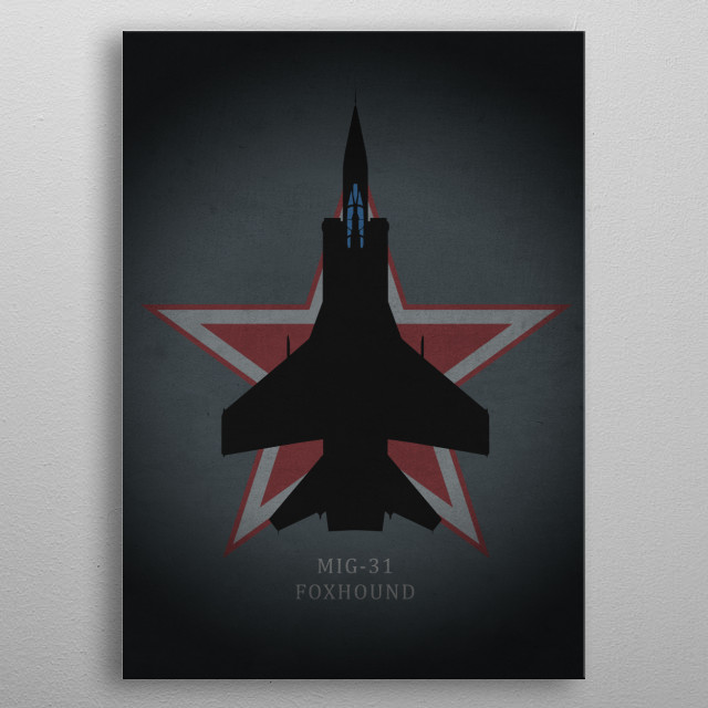 MIG-31 Foxhound metal poster