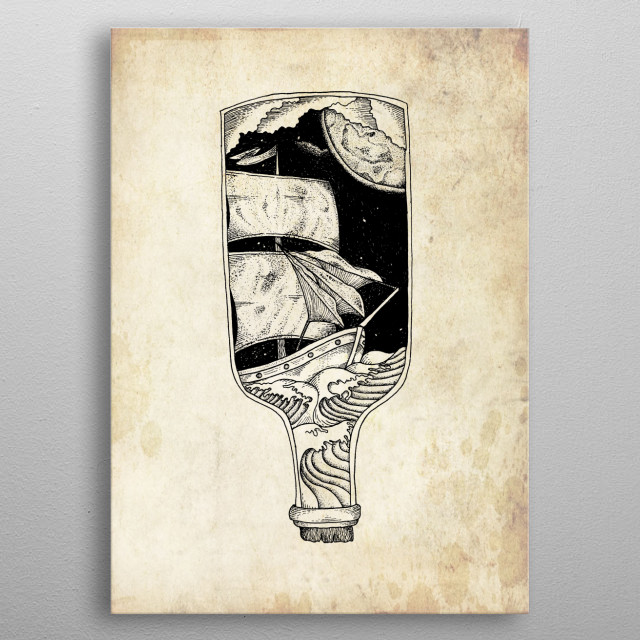 The Magic Bottle metal poster