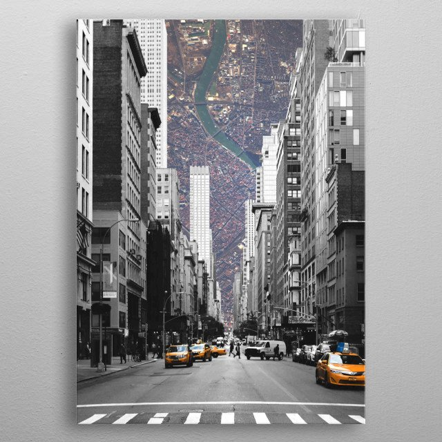 Cityception metal poster