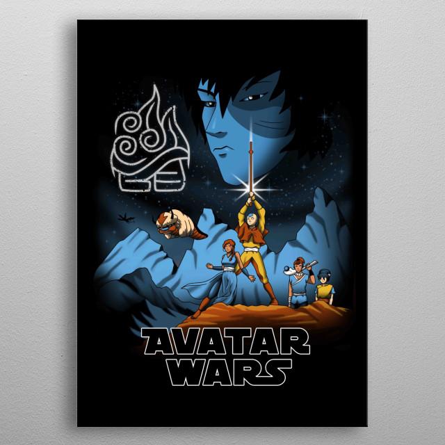 Avatar Wars metal poster