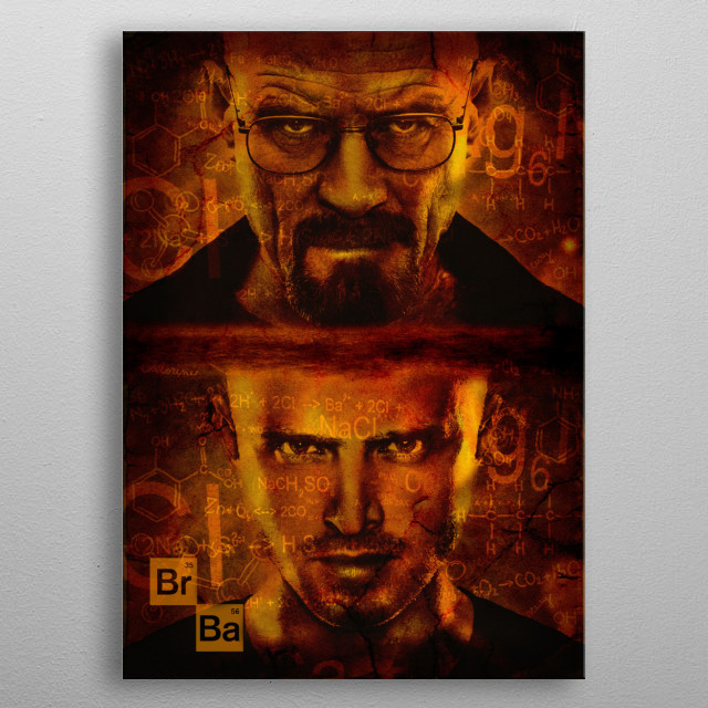 Illustratiaon - Photoshop - Breaking Bad metal poster