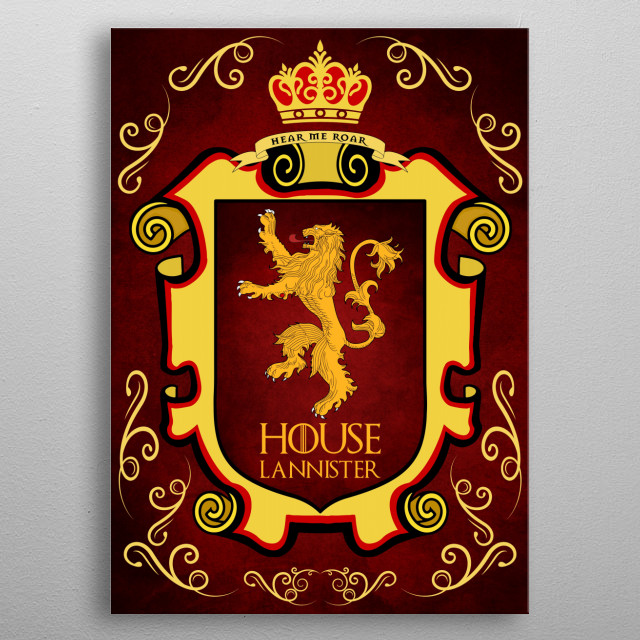 House Lannister. metal poster