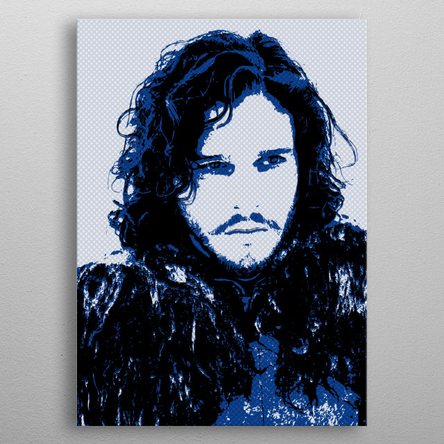 High-quality metal print from amazing Game Of Thrones collection will bring unique style to your space and will show off your personality. metal poster