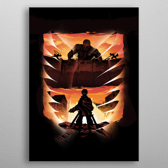 Sunset Attack metal poster
