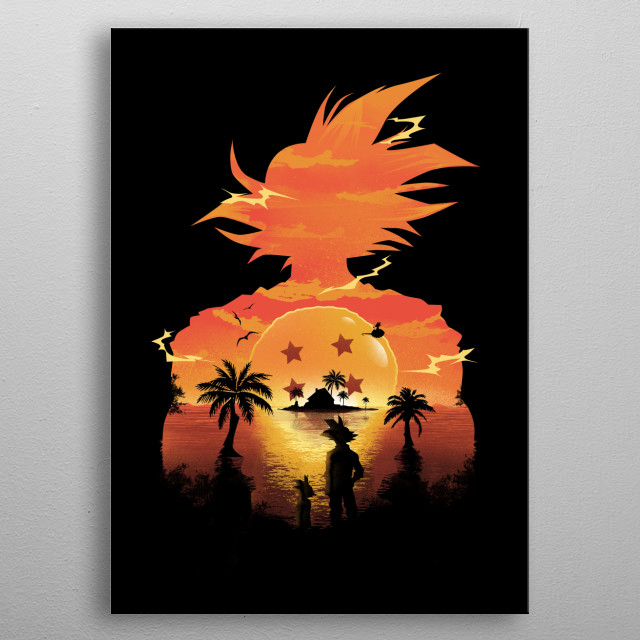 Beautiful Sunset metal poster