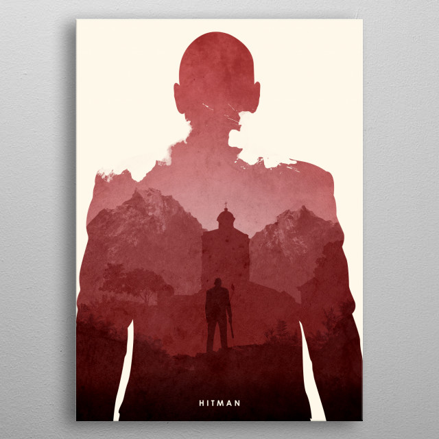 Poster design for the video game, Hitman. metal poster