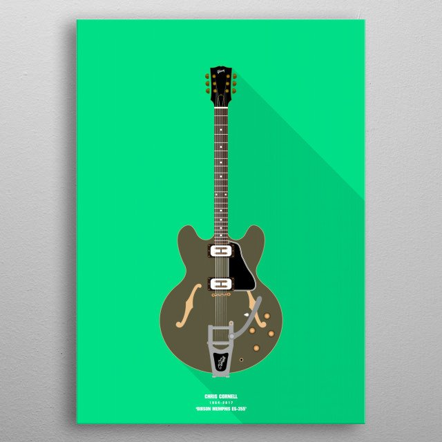 High-quality metal print from amazing Guitars collection will bring unique style to your space and will show off your personality. metal poster