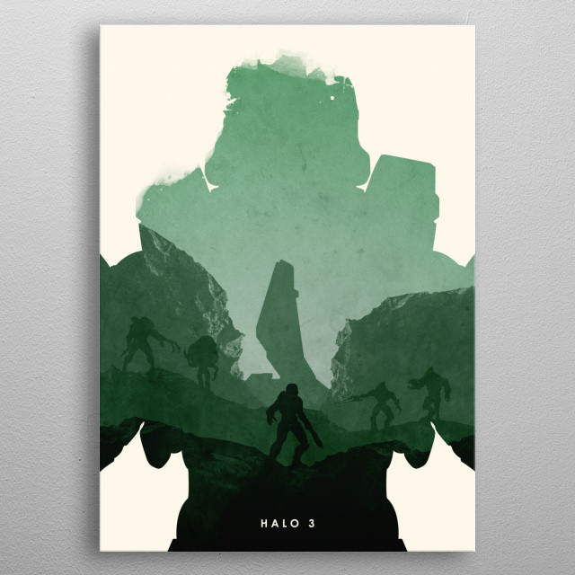 Poster design for the video game, Halo 3. metal poster