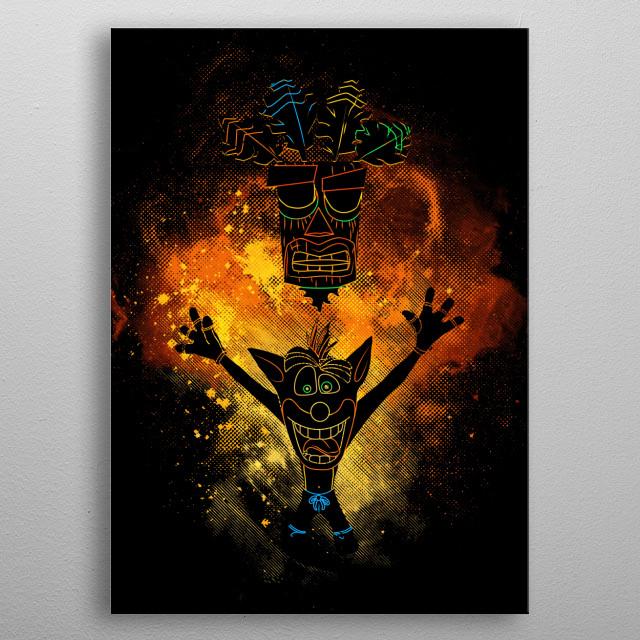 Nsane Art metal poster