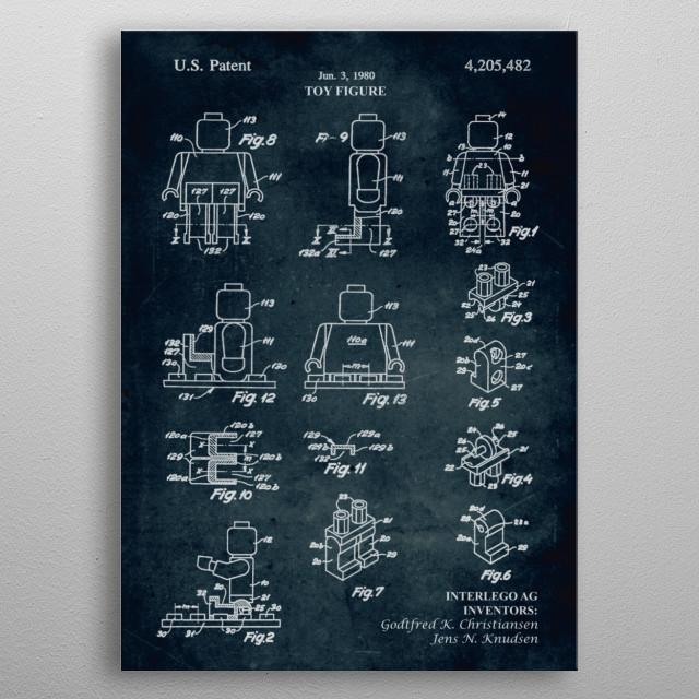 No208 - 1979 - Toy figure - Inventors G. K. Christiansen, J. N. Knudsen metal poster