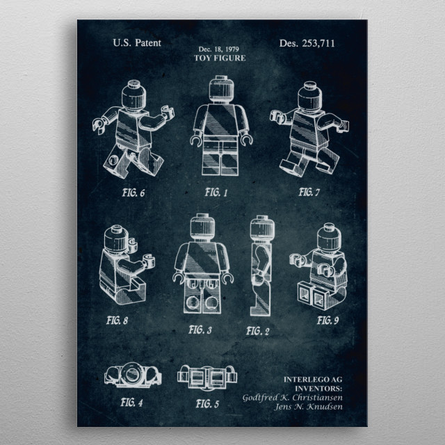 No205 - 1979 - Toy figure - Inventors G. K. Christiansen, J. N. Knudsen  metal poster