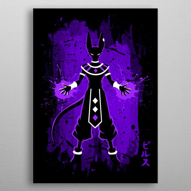 Destroyer purple metal poster