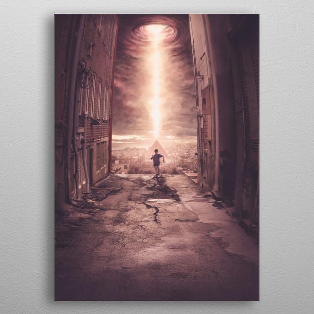 City of God metal poster