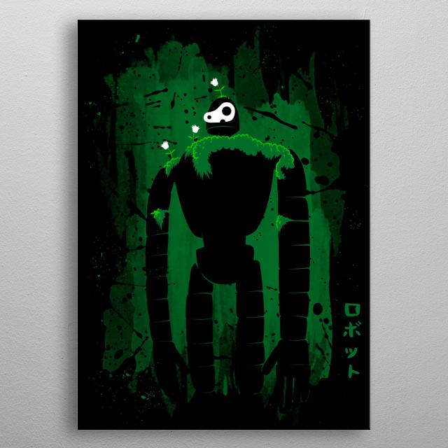 Stain Robot metal poster